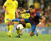 Alexis Sanchez of FC Barcelona Stock Images