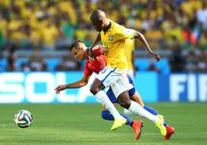 Alexis Sanchez and Ramires Coupe du Monde 2014 Stock Images