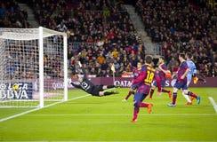 Alexis Sanchez scores a goal Stock Images