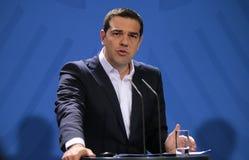 Alexis Tsipras foto de archivo libre de regalías