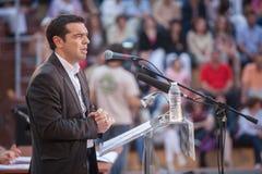 Alexis Tsipras is een Griekse linkse politicus, hoofd van SYRI Stock Fotografie