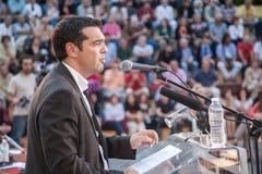 Alexis Tsipras es político de izquierda griego, jefe del SYRI imágenes de archivo libres de regalías