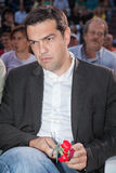 Alexis Tsipras is a Greek left-wing politician, head of the SYRI Stock Photo