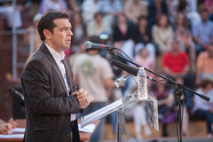 Alexis Tsipras is a Greek left-wing politician, head of the SYRI Stock Photography