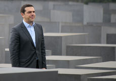Alexis Tsipras. MARCH 24, 2015 - BERLIN: Greek Prime Minister Alexis Tsipras at a visit of the Holocaust Memorial, Berlin Stock Image
