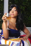 Alexis With Wine Glass Royalty Free Stock Image