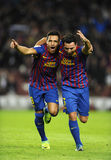 Alexis and Xavi of FC Barcelona Royalty Free Stock Photo