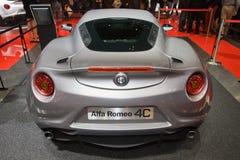 Alfa罗密欧4C全球首演-日内瓦汽车展示会2013年 库存图片