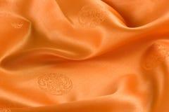 Alfa di seta orientale arancione Fotografia Stock