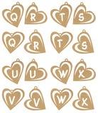 Alfa do coração Imagem de Stock Royalty Free