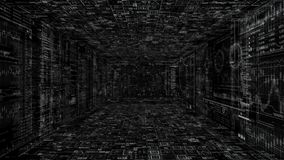 Alfa do png Introdução de HUD do Cyberspace de Techno ilustração royalty free