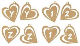 Alfa e numeri del cuore Fotografie Stock