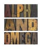Alfa i omego zdjęcia stock