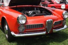 Alfa Romeo με την ανοιγμένη κουκούλα Στοκ Εικόνες