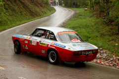 Alfa Romeo 2000 GT during Rally Verde Pino 2012 Stock Images