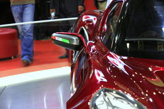 Alfa Romeo 4C Side View. Alfa Romeo 4C from the Auto Showroom in istanbul/Turkey, 2012 November royalty free stock photo