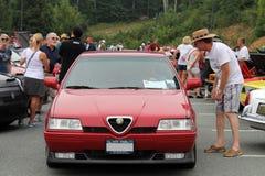Alfa Romeo 164 all'angolo della parte anteriore di evento Fotografia Stock Libera da Diritti