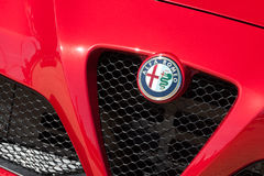 Alfa Romeo auto badge Royalty Free Stock Photos