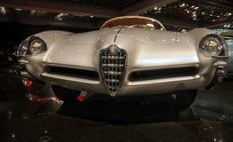 1953 Alfa Romeo b A T Bertone 5 przedstawiający w Blackhawk muzeum Ca USA fotografia royalty free