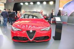 Alfa Romeo bij het Car Show van Belgrado Stock Afbeeldingen