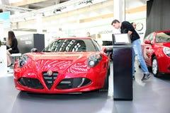 Alfa Romeo bij het Car Show van Belgrado Royalty-vrije Stock Foto
