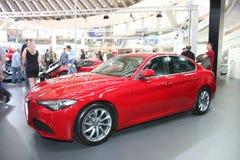 Alfa Romeo bij het Car Show van Belgrado Stock Foto