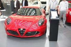 Alfa Romeo bij het Car Show van Belgrado Royalty-vrije Stock Foto's