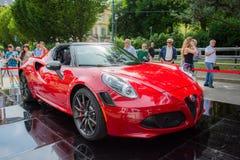 Alfa Romeo 4C Foto de archivo libre de regalías