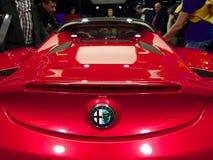 Alfa Romeo 4C aux voitures d'IAA Image stock