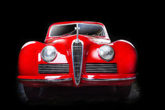 Alfa Romeo 6C 2300B dark background Adler Trumpf Junior brown luxury retro car Cabrio Limousine dark background. Alfa Romeo 6C 2300B dark background royalty free stock photos