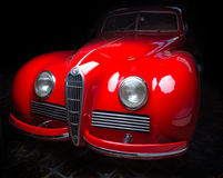 Alfa Romeo 6C 2300B dark background Adler Trumpf Junior brown luxury retro car Cabrio Limousine dark background. Alfa Romeo 6C 2300B dark background stock photography