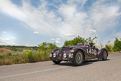 Alfa Romeo  6C 2300 B MM spider Touring (1938) runs in Mille Mig Stock Photos
