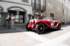 Alfa Romeo 6C bei Mille Miglia 2016 Stockfotografie
