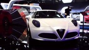 Alfa Romeo 4C compact sports car stock video footage