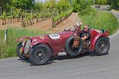 Alfa Romeo 8C 2900 A (1936) en Mille Miglia 2014 Images libres de droits