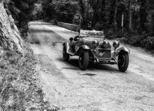 ALFA ROMEO 6C 1750 GRAN SPORT 1930. PESARO, ITALY - MAY 15: old racing car in rally Mille Miglia 2015 the famous italian historical race 1927-1957 on May 15 2015 Stock Photography