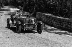 ALFA ROMEO 6C 1750 GS ZAGATO 1930 on an old racing car in rally Mille Miglia 2017 Royalty Free Stock Photography