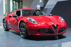 Alfa Romeo 4C Launch  on display Stock Photos