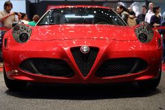 Alfa Romeo 4C Launch Edition - Geneva Motor Show 2013 Royalty Free Stock Images