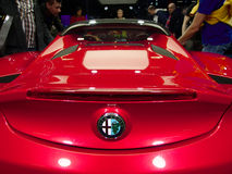Alfa Romeo 4C nos carros de IAA Imagem de Stock