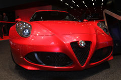 Alfa Romeo 4C at Paris Motor Show 2014 Royalty Free Stock Photography