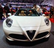 ALFA ROMEO 4C Spider, Motor Show Geneva 2015. Stock Images