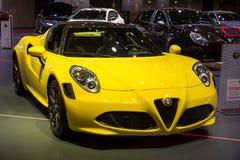 Alfa Romeo 4C sportbil Fotografering för Bildbyråer