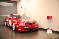 Alfa Romeo 156 D2 sur l'affichage au musée historique Alfa Romeo image stock