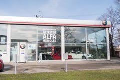 Alfa Romeo dealership Stock Photo