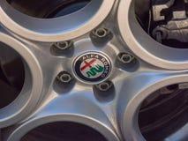 Alfa Romeo emblem royalty free stock photos