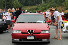 Alfa romeo 164 at event front angle Royalty Free Stock Photo
