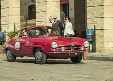 Alfa romeo giulia coupe classic Stock Photography