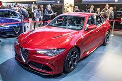 Alfa Romeo Giulia przy IAA 2015 Obraz Stock