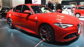 Alfa Romeo Giulia Quadrifoglio QV stock footage